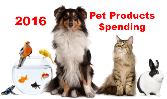 2016 Pet Products Spending was $42.34B- Where did it come from…?